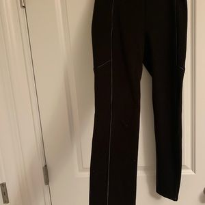 Splendid black leggings with faux leather piping